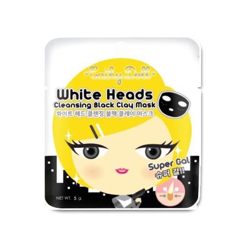 *พร้อมส่ง* Cathy Doll White Heads Cleansing Black Clay Mask โคลนดำลอกสิวหัวขาวและสิวเสี้ยน สูตรลดสิ่งอุดตันรูขุมขนบนใบหน้า เผยความขาวกระจ่างใส