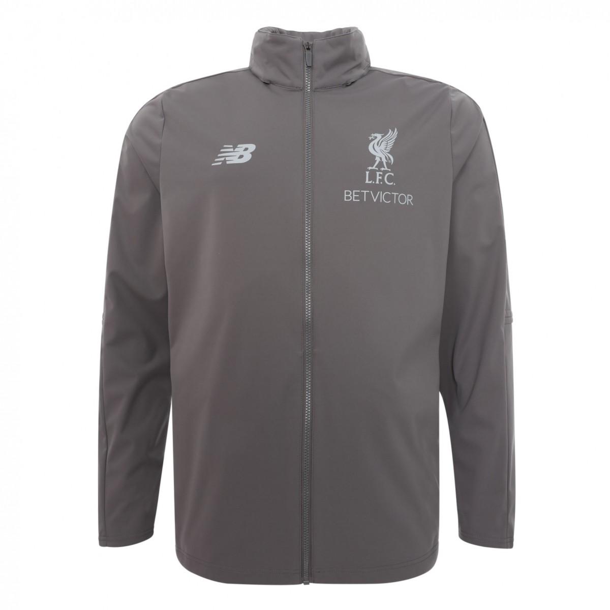 เสื้อแจ็คเก็ตลิเวอร์พูล 2018-2019 Training Precision สีเทาของแท้