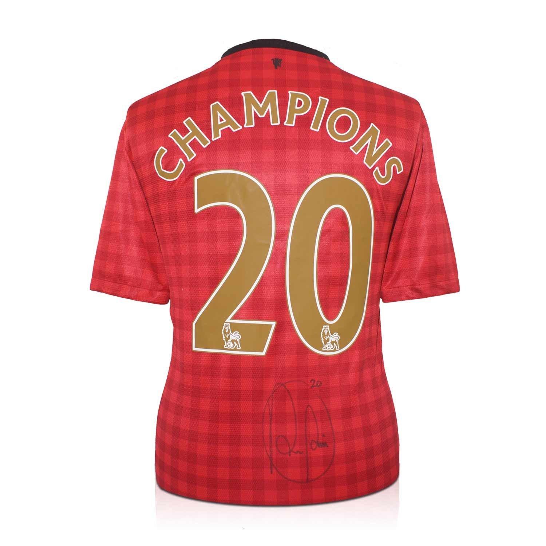 เสื้อแมนยู ของแท้ 100% Manchester United Home Shirt *Champions 20* 2012 2013 เสื้อแมนยู พร้อมลายเซ็นต์ Robin van Persie