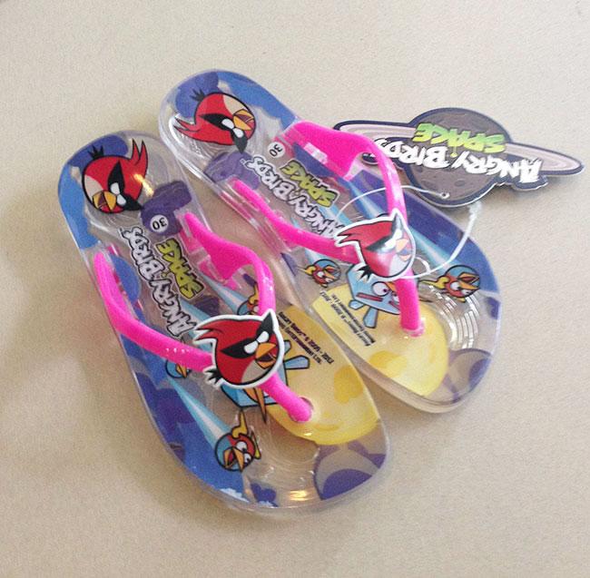 รองเท้าแตะคีบเด็กหญิง Angry Birds เบอร์ 30 - 35 มีให้เลือก 4 สี