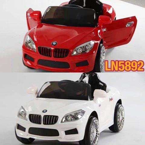 รถแบตเตอรี่เด็กนั่งไฟฟ้า รุ่น ln5892 ยี่ห้อ BMW-X2 2m มี 3 สี แดง ขาว เหลือง