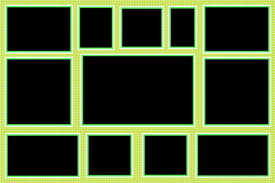 Template photo mix ขนาด 8x12 นิ้ว รหัส Y-07