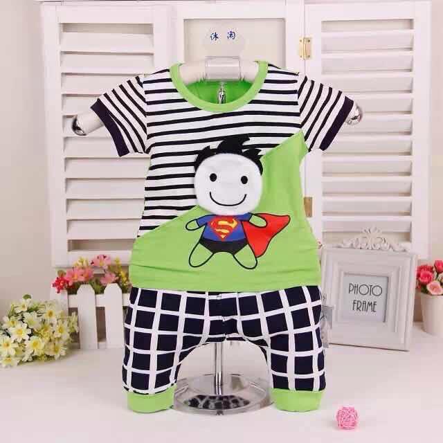 ชุดผ้าเด้งลายเด็กชายมีผ้าคุม