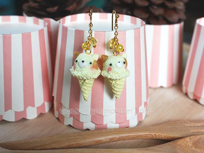 ต่างหู Sumikko gurashi Ice-cream (Neko)