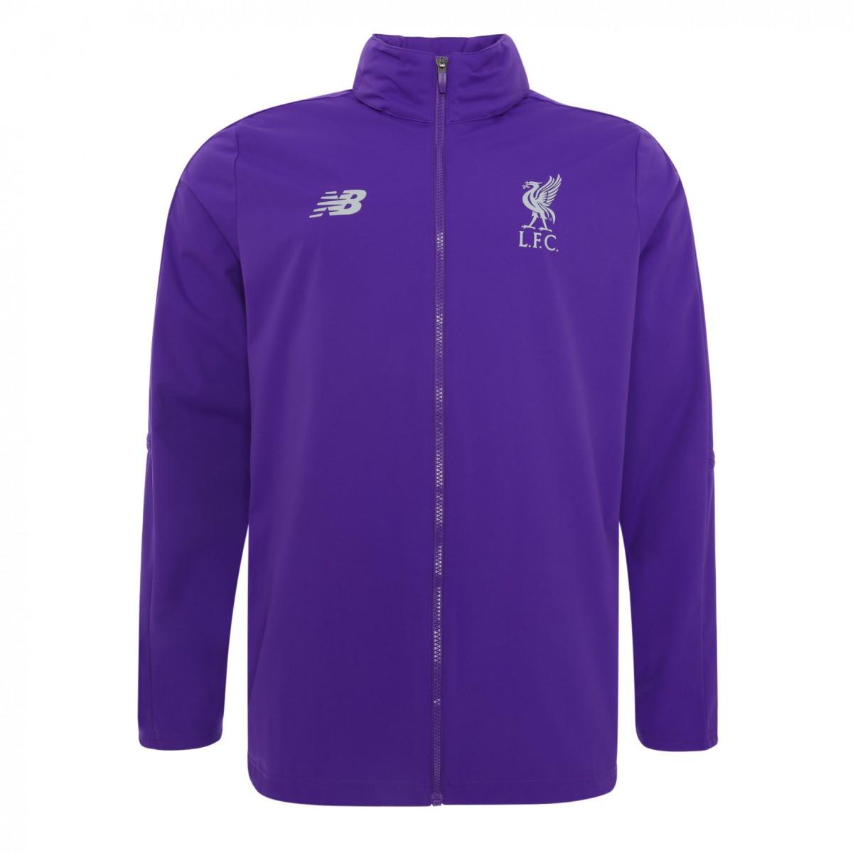 เสื้อแจ็คเก็ตลิเวอร์พูล Mens Purple Training Precision ของแท้