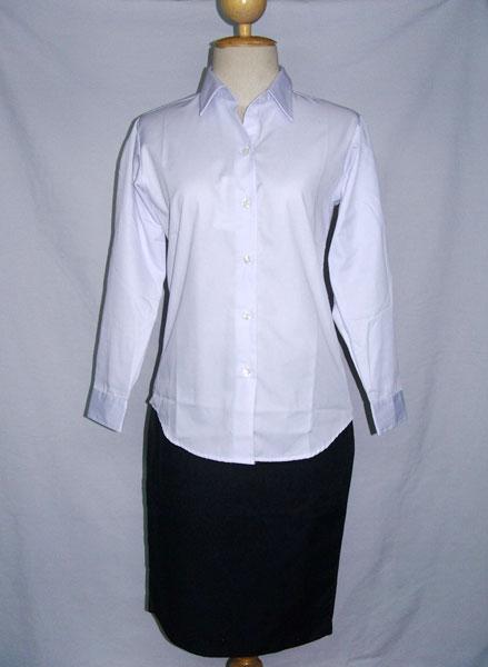 เสื้อนักศึกษาหญิง แขนยาว เข้ารูป ยี่ห้อ FG uniform