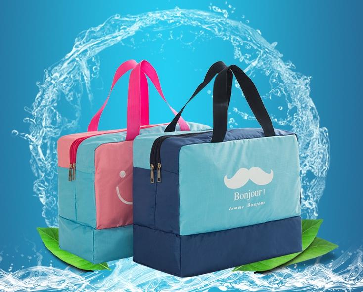 กระเป๋าชายหาด เก็บอุปกรณ์ว่ายน้ำ มีช่องใส่ของเปียกและแห้ง