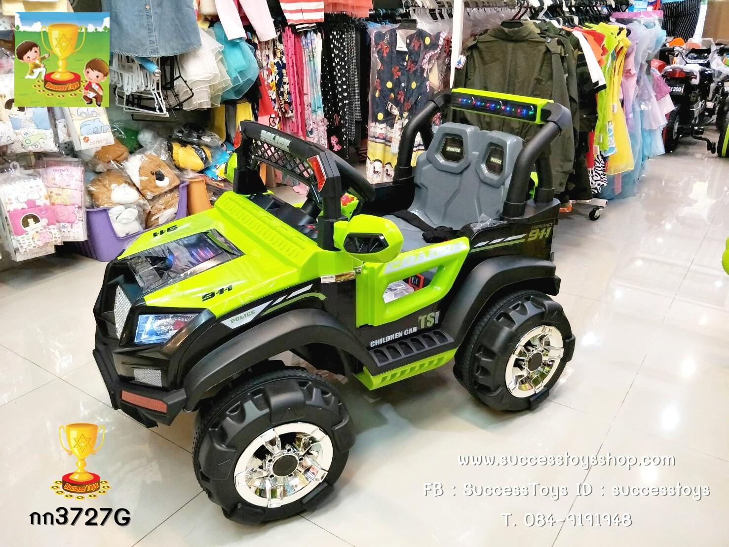 กก3727G รถจิ๊ฟตำรวจสีเขียว