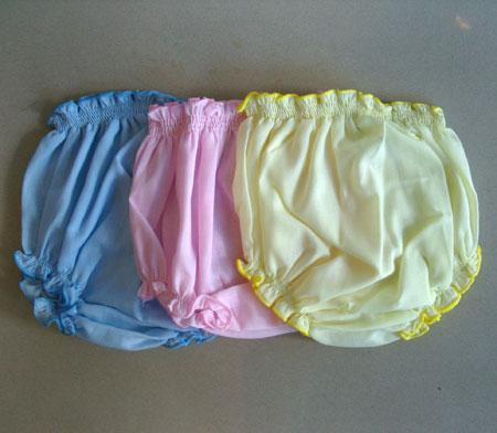 [แพค 3 ตัว] กางเกงเด็กทารกแรกเกิด ผ้าป่าน