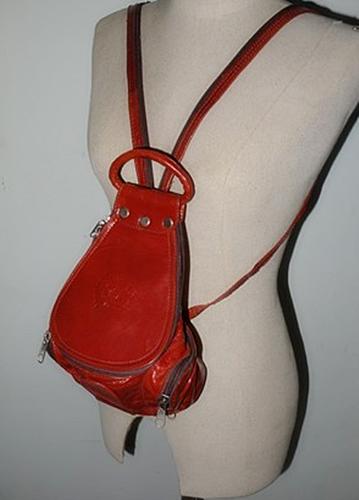 ขายแล้วค่ะ B9:Vintage leather bag กระเป๋าหนังแท้สะพายหลัง&#x2764