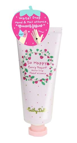 *พร้อมส่ง* Cathy Doll So Happy Berry Yogurt Water Drop Hand Essence เคที่ดอลล์ ครีมบำรุงมือและเล็บเบอร์รี่โยเกิร์ต เปลี่ยนมือและเล็บที่แห้งกร้านให้กลับเนียนนุ่มชุ่มชื่น