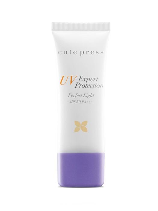 *พร้อมส่ง* Cute Press UV Expert Protection Perfect Light SPF50 PA+++ กันแดดคิวท์เพรสสูตรบางเบาที่สุด ผิวสว่างกระจ่างใสทันทีที่ทา นำเข้าจากญี่ปุ่น