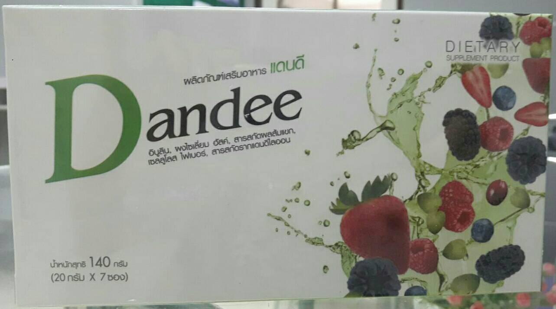 แดนดีดีท๊อกซ์ Dandee Detox ผลิตภัณฑ์เสริมอาหารล้างสารพิษทั้งระบบ ลำไส้ ตับ ไต เลือดและขจัดเชื้อแบคทีเรียที่กระเพาะปัสสาวะ มี 7 ซอง