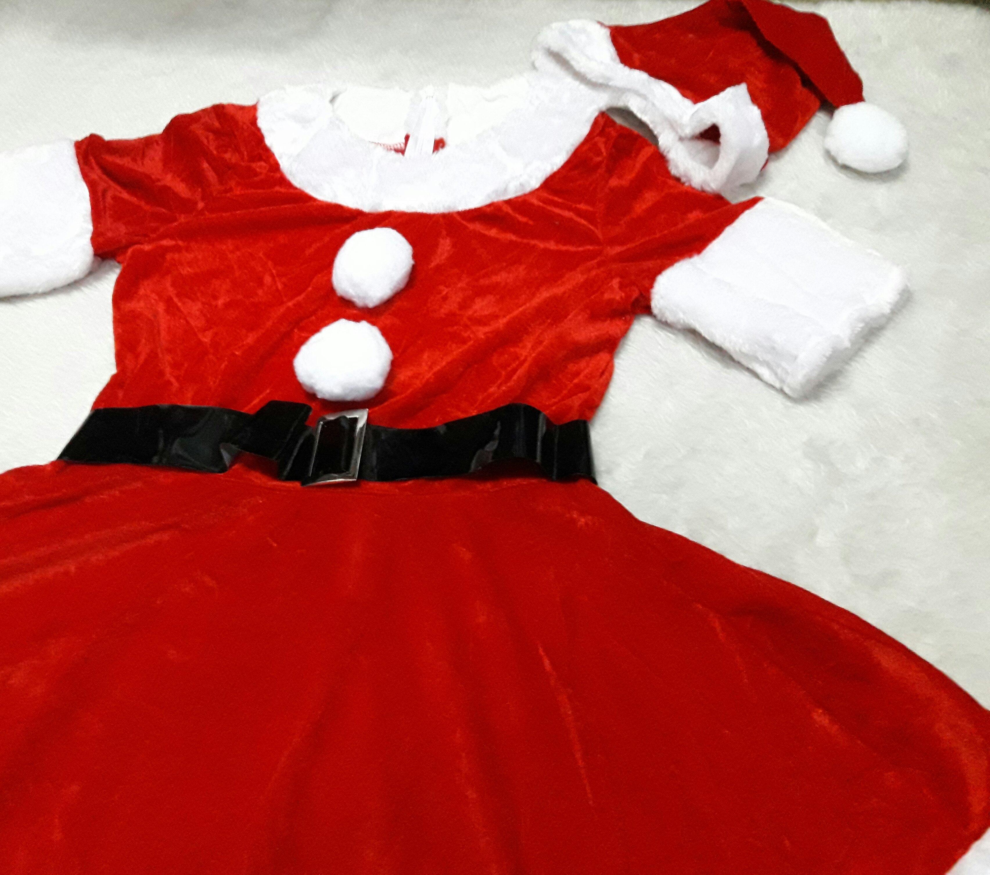 ชุดซานต้าผู้หญิง + หมวกซานต้า + เครื่่องประดับตกแต่ง วันคริสต์มาส