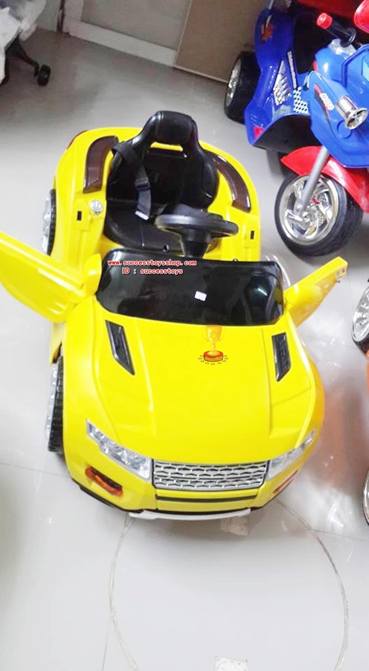 รถแบตเตอรี่เด็กนั่ง รุ่น 3163 ยี่ห้อแลนโรเวอร์ มี 4 สี ดำ ขาว เหลือง แดง