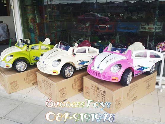 รถแบตเตอรี่เด็กนั่ง รุ่น LN5798 ยี่ห้อโฟล์คเต่า2 มอเตอร์ แบต 6v4.5 2 ก้อนมี 3 สี ชมพู เขียว ครีม