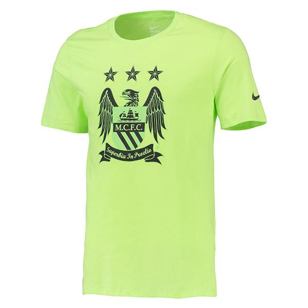 เสื้อแมนเชสเตอร์ ซิตี้ของแท้ Manchester City Core Crest T-Shirt - Green