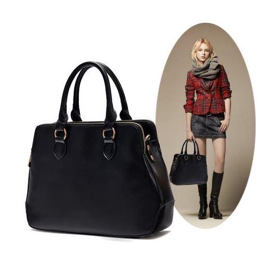 [ พร้อมส่ง Hi-End ] - กระเป๋าแฟชั่น นำเข้าสไตล์ยุโรป สีดำคลาสลิค ดีไซน์แบรนด์ดัง ทรงตั้งอยู่ทรงได้ แบบสวยเรียบหรู เหมาะสำหรับทุกโอกาสการใช้งาน สาวๆ Workking Woman ห้ามพลาด