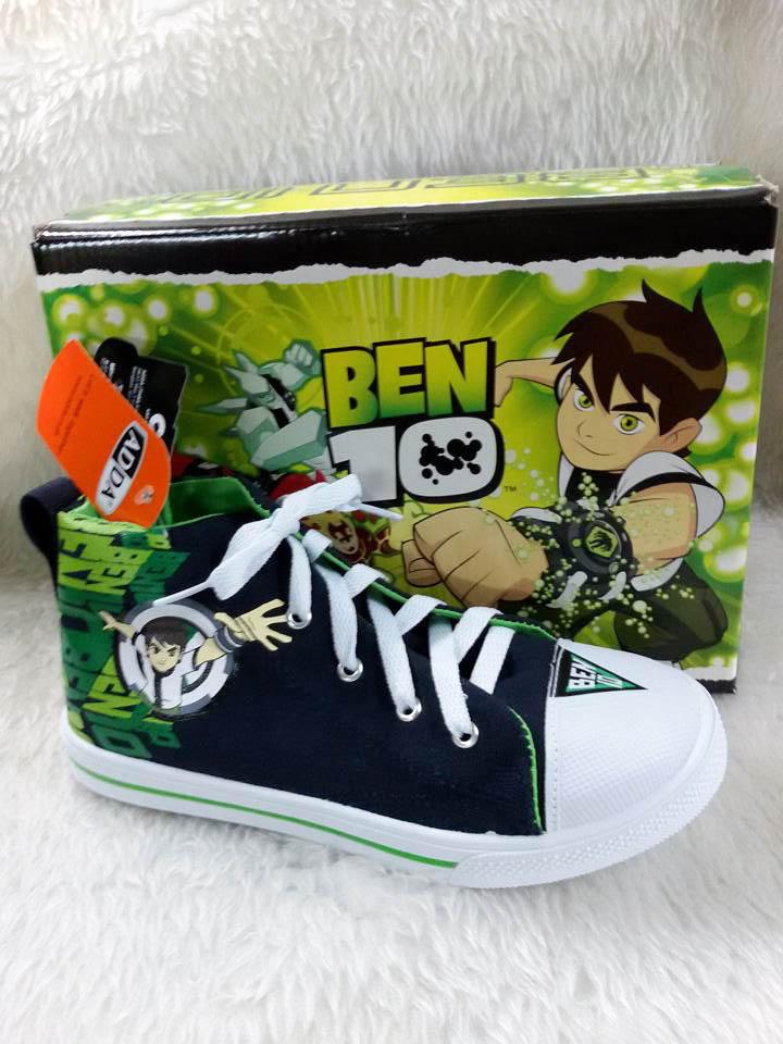 รองเท้าผ้าใบท็อปบู๊ท ADDA ลาย Ben10