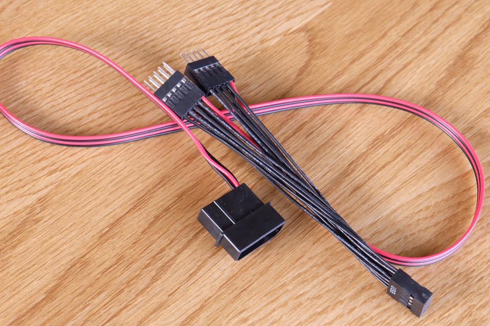 สายY USB 10 Pin +เพิ่มไฟเลี้ยง
