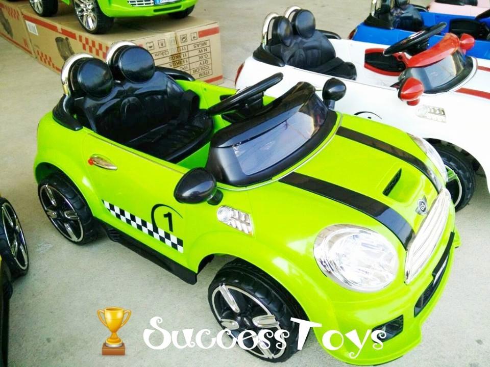 LN5616G รถแบตเตอรี่เด็กนั่ง ยี่ห้อมินิคูเปอร์เปิดประตูได้ 2มอเตอร์ มี 6 สี แดง ขาว เหลือง เขียว ชมพู ฟ้า