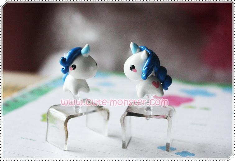 White blue unicorns