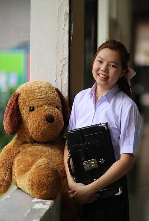 ( มาตราฐาน Muangdek ) เสื้อเชิ๊ตนักเรียนหญิง ม.ปลาย แขนพอง โรงเรียนรัฐบาล