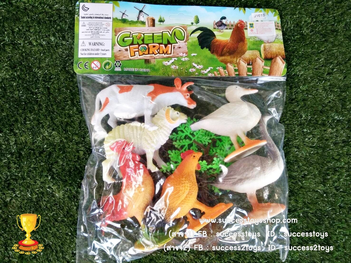 โมเดลสัตว์เลี้ยงในฟาร์ม6ตัว