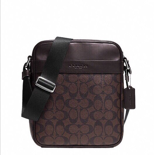 กระเป๋าผู้ชาย COACH FLIGHT BAG IN SIGNATURE F54788 MAHOGANY