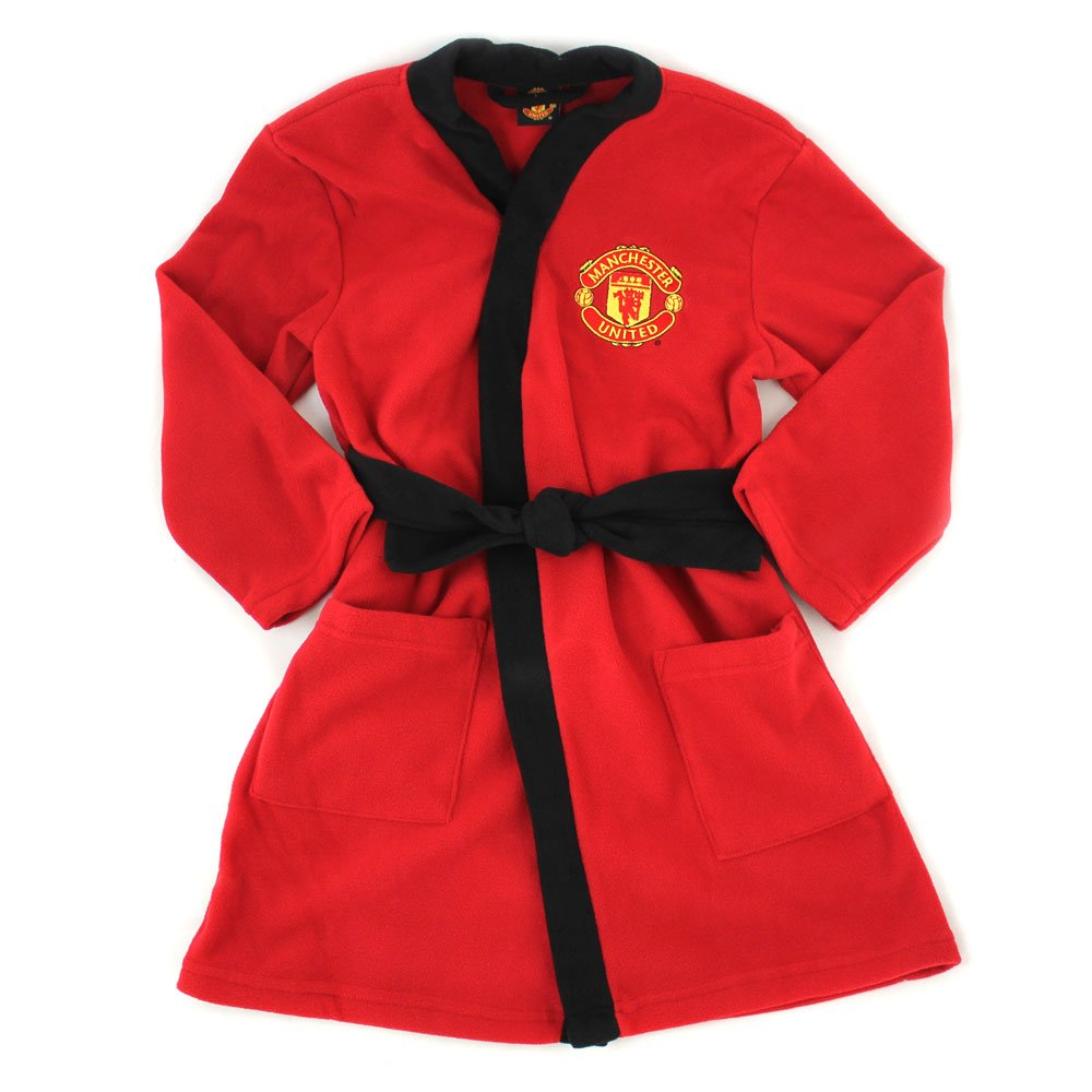 ผ้าคลุม ขนหนู แมนยู ของแท้ 100% Manchester United Dressing Gown - Supersoft - From Age 5 to 12 Years จากอังกฤษ เหมาะสำหรับใช้เอง เป็นของฝาก ที่ระลึกของสะสม ของขวัญแด่คนสำคัญ