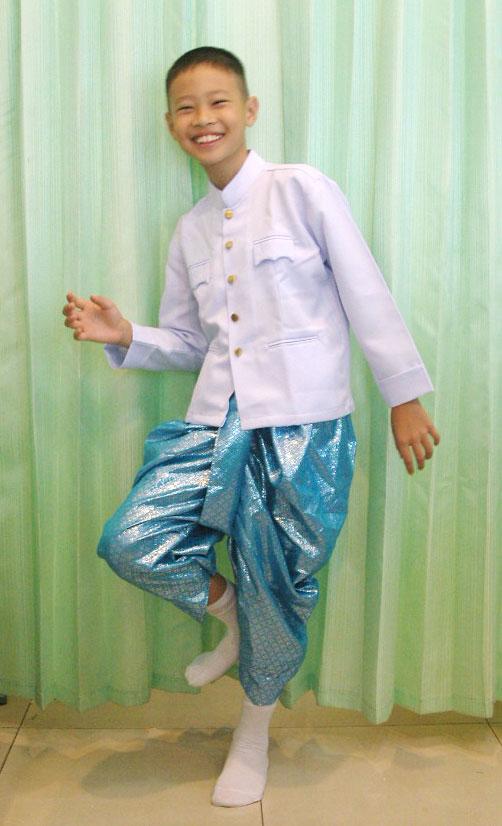 ชุดไทย ราชประแตน เด็กชาย มีหลายขนาด