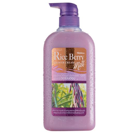*พร้อมส่ง* Mistine Natural Rice Berry Milk Shower Cream ครีมอาบน้ำสูตรน้ำนมข้าวไรซ์เบอร์รี่ เผยผิวเนียนเด้ง แลดูอ่อนเยาว์