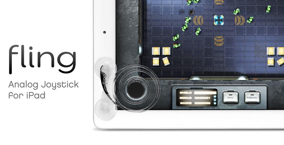 Fling Joystick For i-pad , tablet ปุ่มควบคุมสำหรับการเล่นเกมส์สำหรับ i-pad และ Tablet