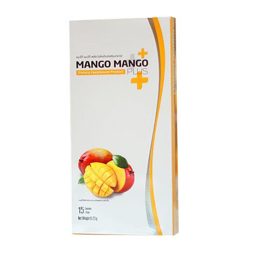 แมงโก้ แมงโก้ พลัส (mango mango plus) ผลิตภัณฑ์เสริมอาหารลดน้ำหนัก สารสกัดจาก african mango 1 กล่องมี 15 แคปซูล