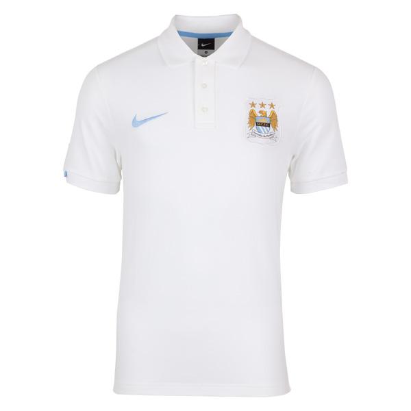 เสื้อโปโลแมนเชสเตอร์ ซิตี้ของแท้ Manchester City Core Match Up Polo - White