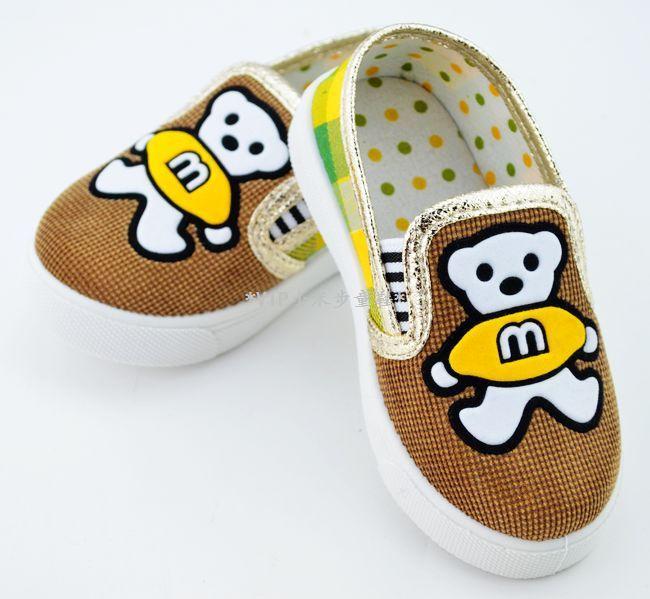 รองเท้าหุ้มส้นเด็กลายหมี size 18 20