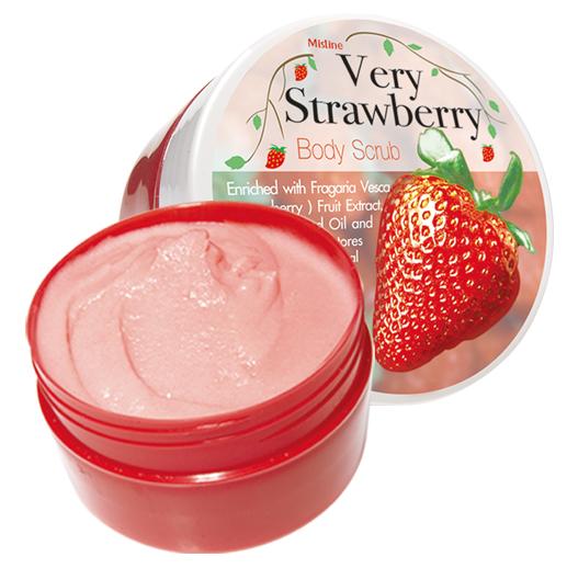 *พร้อมส่ง* Mistine Very Strawberry / Richy Orange Body Scrub สครับผลไม้กลิ่นหอมหวาน ให้ผิวสวยกระจ่างใส เปล่งปลั่ง หอมทุกวัน