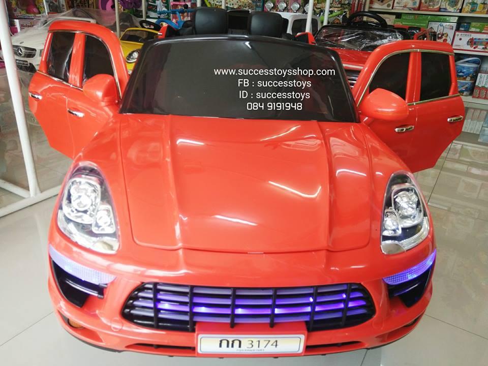 QS3174 รถปอร์เช่คันใหญ่ 2 มอเตอร์ สีแดง