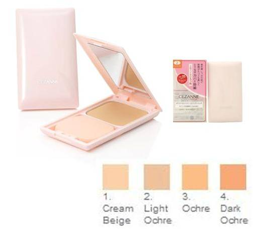 CEZANNE Ultra Cover UV Foundation Powder II # No.4 Dark Ochre สำหรับ ผิวคล้ำ