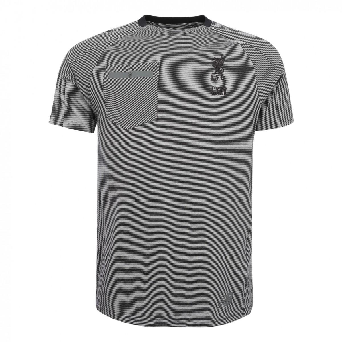 เสื้อทีเชิ้ตนิวบาลานซ์ลิเวอร์พูล สีดำของแท้ Sportswear Mens Black Tee CXXV 17/18