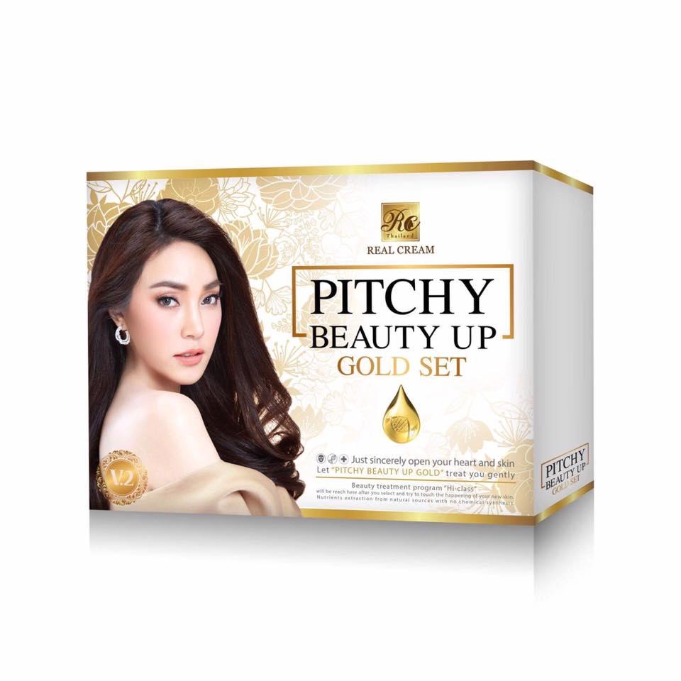 พิชชี่ครีม Pitchy Beauty Up Gold Set พิชชี่บิวตี้อัพโกลด์เซท (เวอร์ชั่น 2) รุ่นใหม่