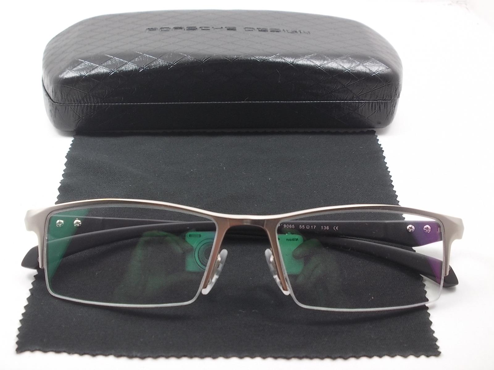 กรอบแว่นตานำเข้า P9065N กรอบเงิน 55-17-136