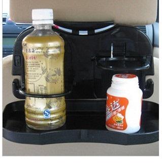 ถาดวางของกิน เครื่องดื่ม พับได้ แขวนติดเบาะรถยนต์