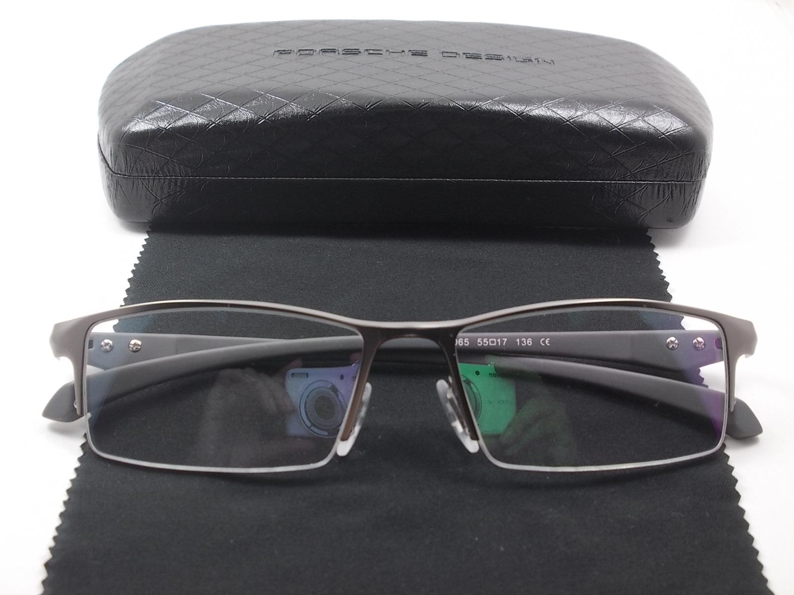 กรอบแว่นตา ไททาเนียม P9065N กรอบเทาดำ 55-17-136
