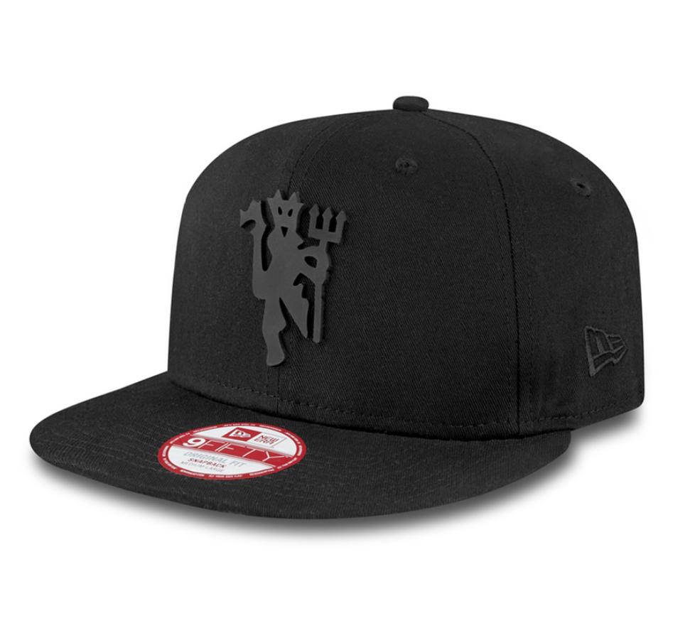 หมวกสแน็ปแบ็คแมนเชสเตอร์ ยูไนเต็ด New Era Black on Black Devil 9FIFTY ของแท้
