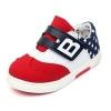 รองเท้าคัชชูกีฬาเด็กเท่ห์ๆ B.boy ดาวธงอเมริกา สีแดงขาวกรม Size 21-32