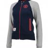 เสื้อแจ็คเก็ตแมนเชสเตอร์ ยูไนเต็ดผู้หญิงของแท้ Manchester United Essential Baseball Jacket - Navy/Grey - Womens