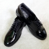 ZAN รองเท้าหนังแท้สีดำ คัชชูผู้ชาย ผูกเชือก