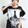 Lady Ribbon's Made Lady Amy Indian Print Slouchy Dress in Black and White
