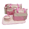 กระเป๋าเด็กอ่อน ใส่สัมภาระลูก Set 5 ชิ้น สีชมพู